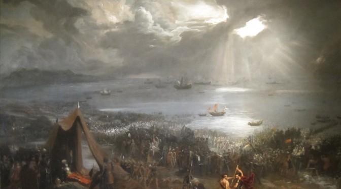 'Battle_of_Clontarf',_oil_on_canvas_painting_by_Hugh_Frazer,_1826
