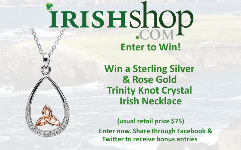 Enter to Win Sterling Silver & Rose Gold Trinity Knot Crystal Pendant