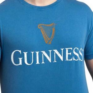 Guinness Trademark Label Blue T-shirt | IrishShop.com