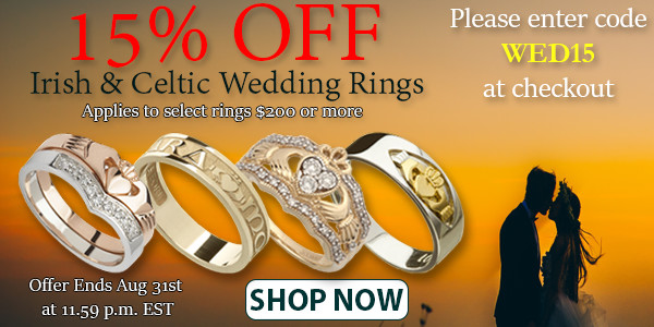 15% OFF Irish & Celtic Wedding Rings
