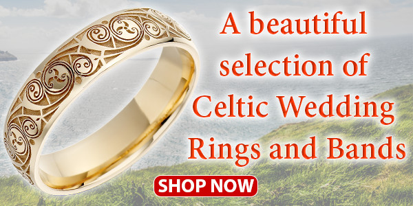 A beautiful selection of Celtic Wedding Rings and Bands
