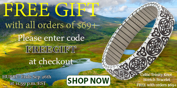 Free Celtic Trinity Knot Bracelet with all orders of $69 or more!