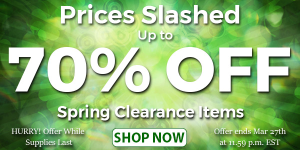 Spring Cleaning Sale! Prices Just Slashed! Up to 70% OFF over 120 items