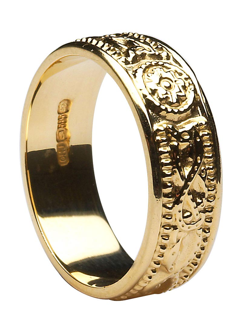 Ladies Celtic Warrior Court Wedding Ring