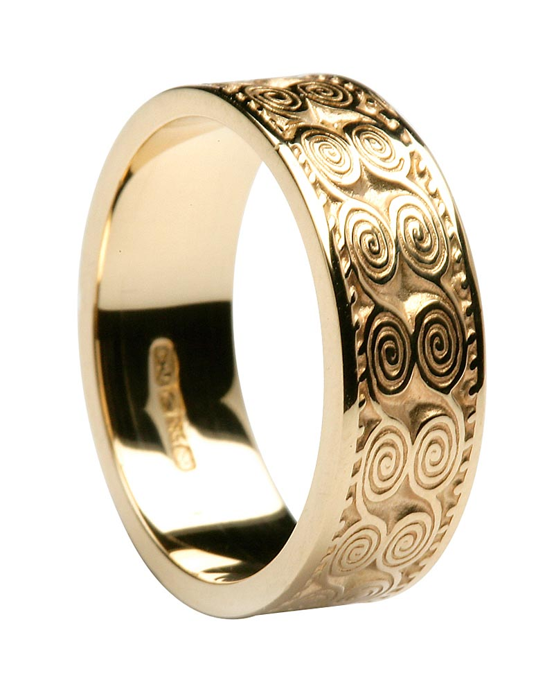 Irish Ring - Ladies Newgrange Irish Wedding Band