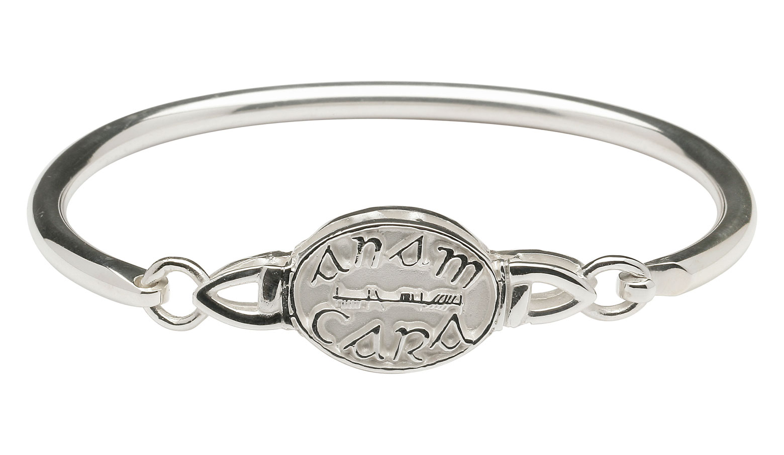 "Sterling Silver Mo Anam Cara ""My Soul Mate"" Wire Bangle"