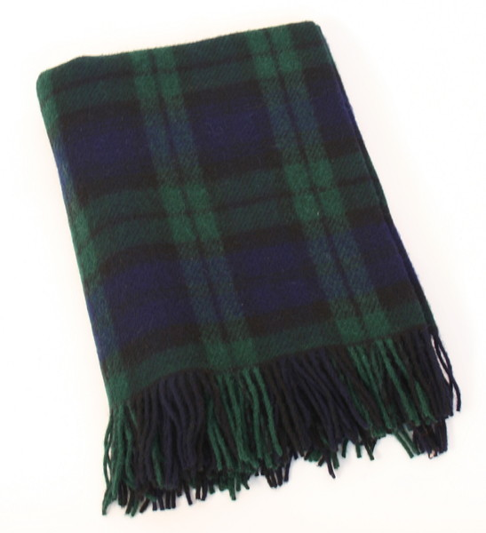 Blackwatch Tartan 54 x 45 Wool Throw