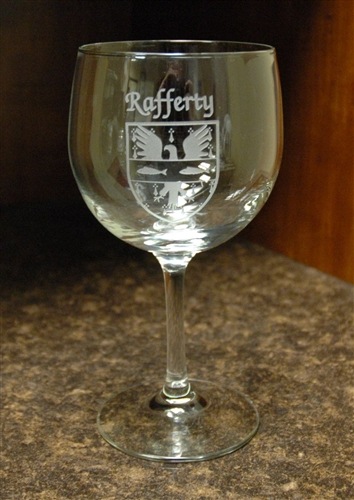 Personalized Coat of Arms Red Wine Glasses - Set of 4
