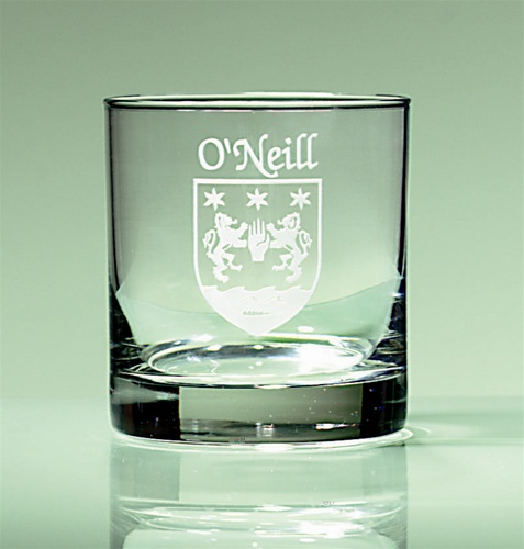Personalized Irish Coat of Arms Tumbler Glasses - Set of 4
