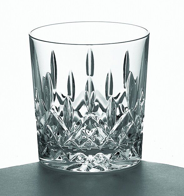 Galway Crystal Longford Double Old Fashioned Glass - 10 oz (Pair)