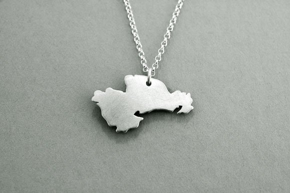 Irish Necklace - Sterling Silver Counties of Ireland Pendant with Chain