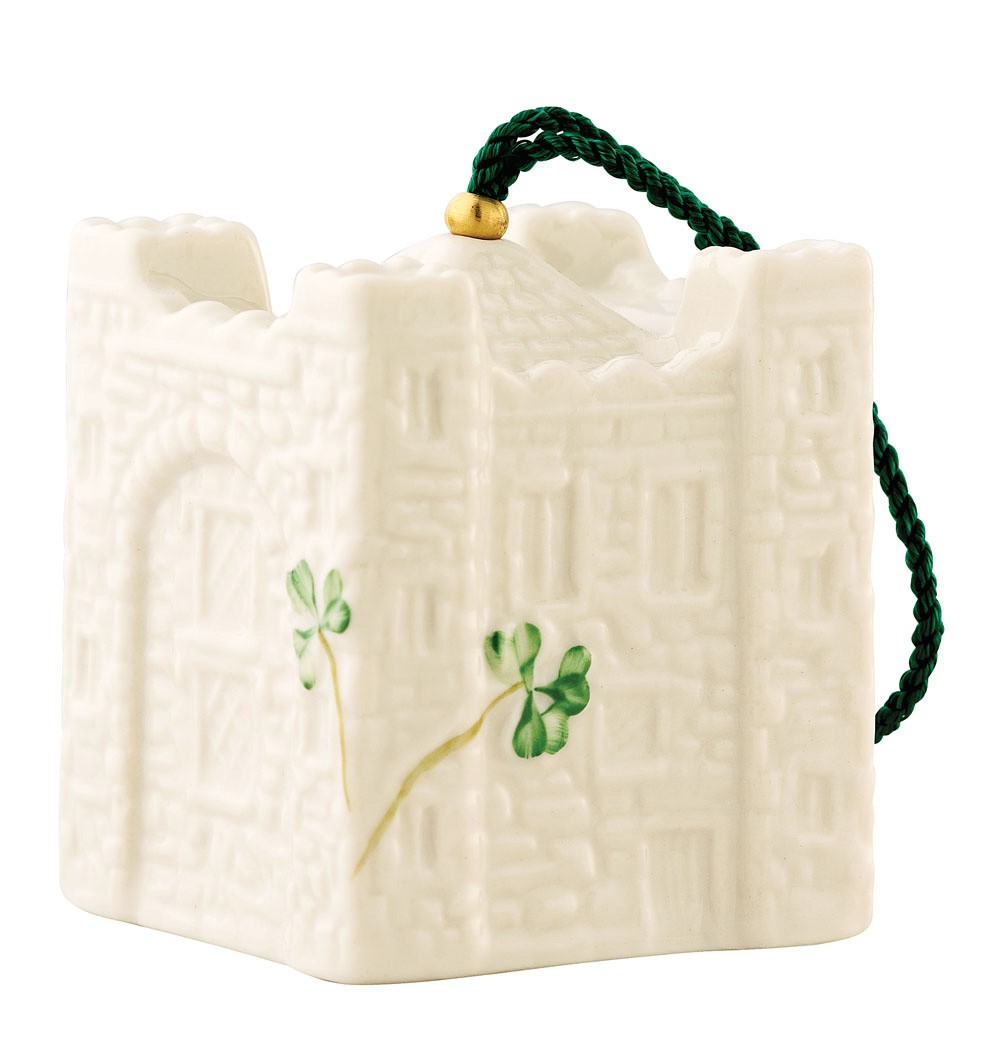 Irish Christmas - Belleek Bunratty Castle Bell Ornament at IrishShop ...