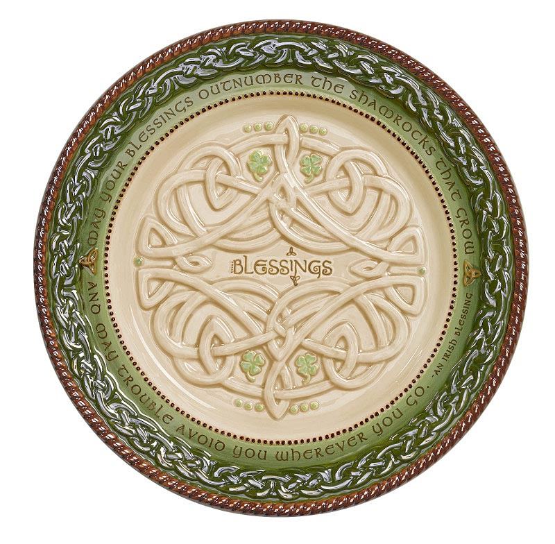 Irish kitchen celtic dessert plates set of 4 at for Irish home decorations