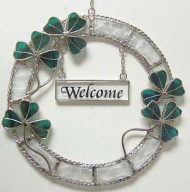 Shamrock Welcome Wreath