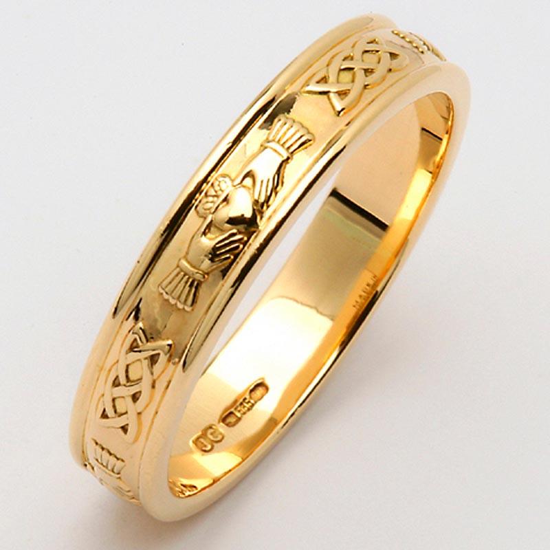 Irish Wedding Ring Men 39 S Narrow Sterling Silver Corrib Claddagh Wedding