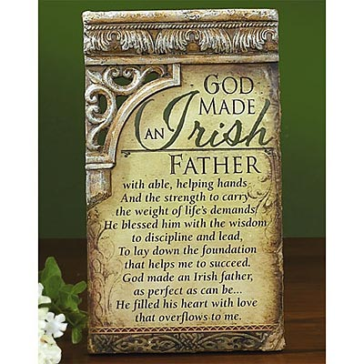 Irish Father Plaque At Irishshop Com Ap54220