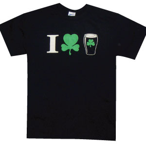 "Irish T-Shirt - ""I (Shamrock) Beer"""