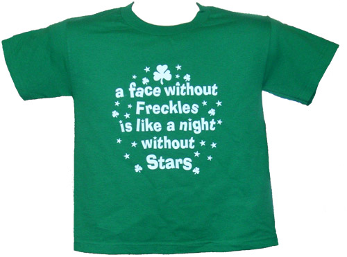"Irish T-Shirt - ""A face without Freckles"" (Youth)"