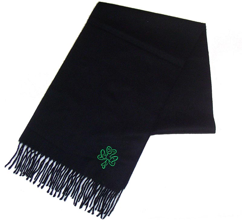 Shamrock Embroidered Scarf