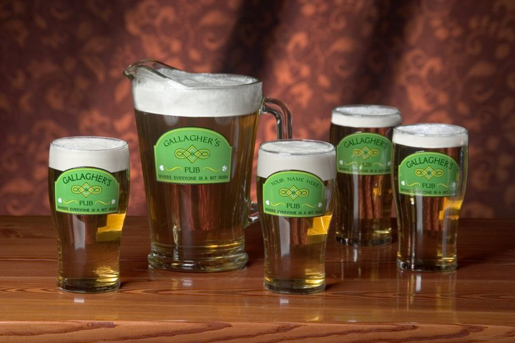 Personalized A Bit Irish 20 oz. Glasses - Set of 4