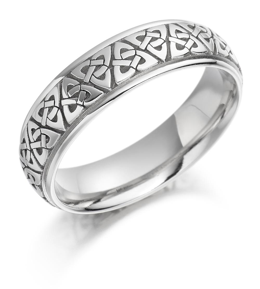 Irish Wedding Ring Mens Gold Trinity Knot Celtic Wedding Band At IrishShop