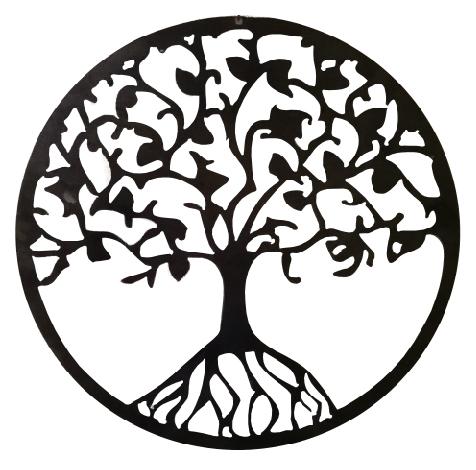 Metal Tree Of Life Hanging Garden Décor   14 Inch