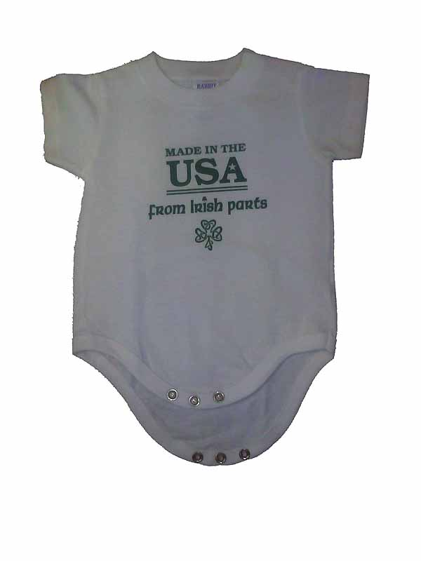 """Made in the USA from Irish Parts"" Romper"