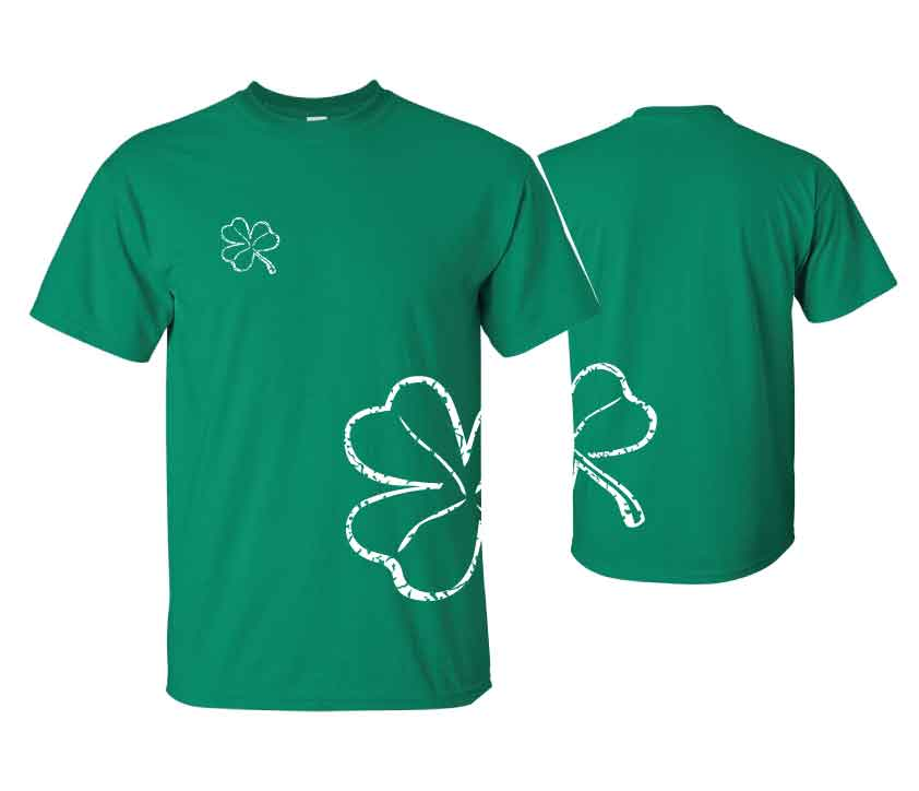 Irish T-Shirt - Wrap Around Shamrock