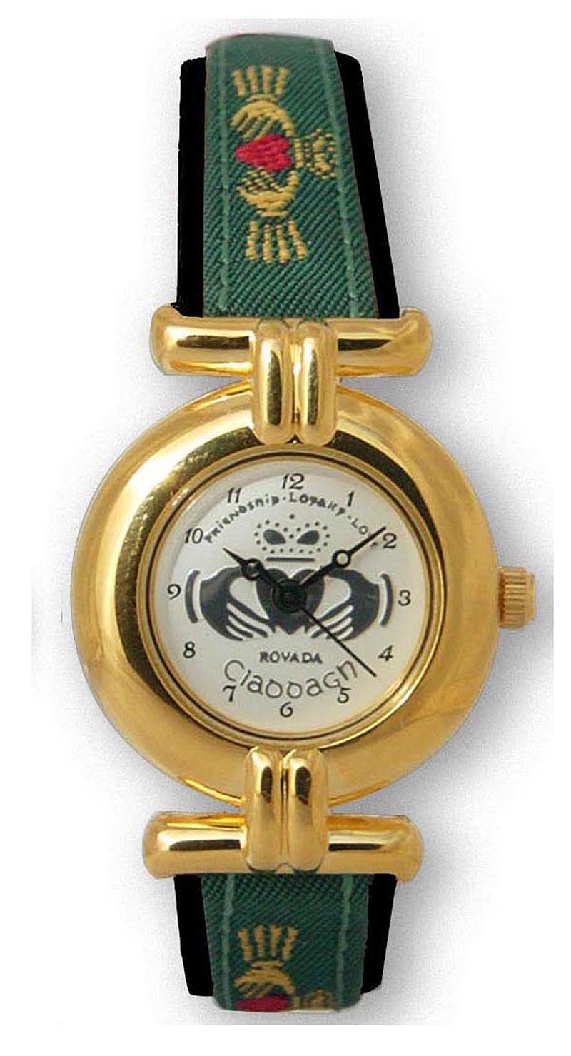 Ladies Claddagh Watch - Gold Plated 'Ana'