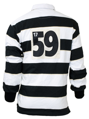Guinness Label Striped Rugby Shirt