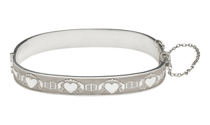 "Mo Anam Cara ""My Soul Mate"" Claddagh Bangle"