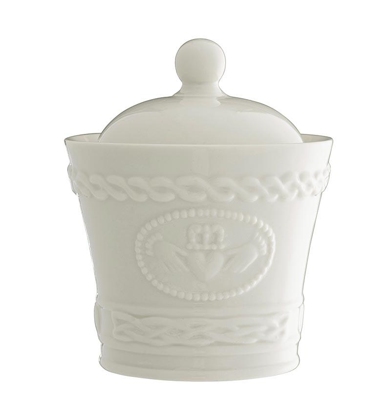 Belleek Claddagh Sugar Condiment Bowl At Irishshop Com