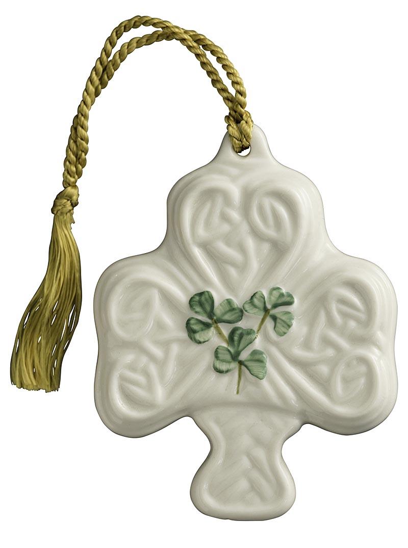 Irish Christmas - Belleek Shamrock Puff Ornament at IrishShop.com ...