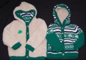 Children's Irish Shamrock Reversible Jacket