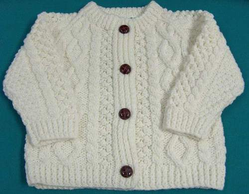 Irish Sweater - Children's Aran Cardigan