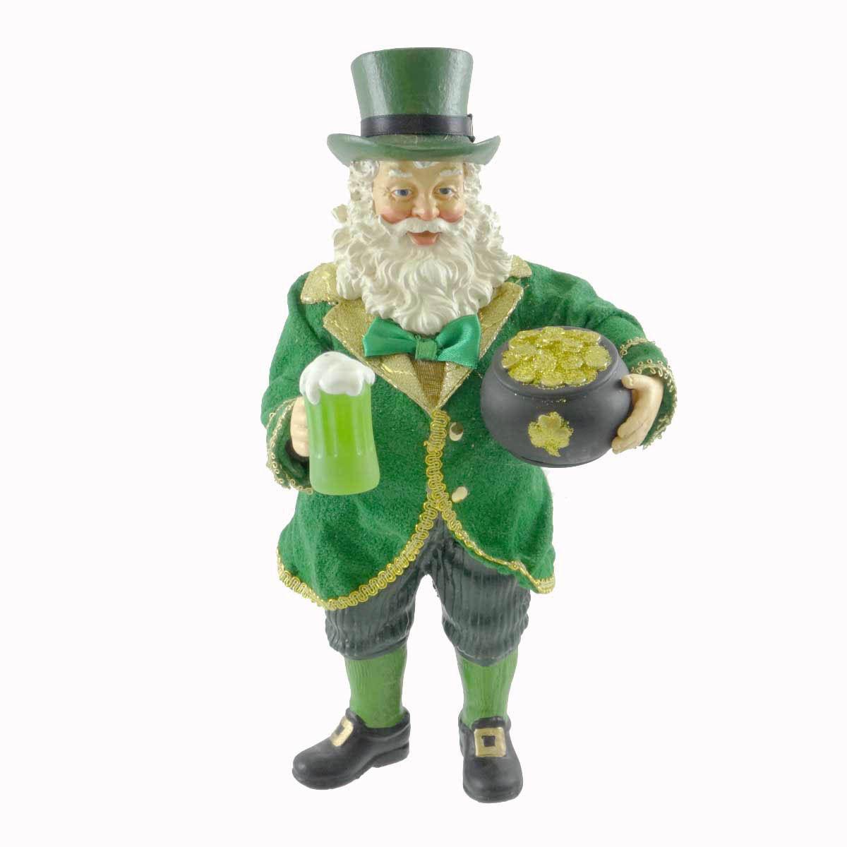 Irish Christmas - Something Cold Something Gold Santa Figurine at ...