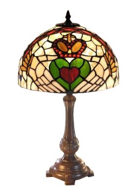 Stained Glass Claddagh Lamp