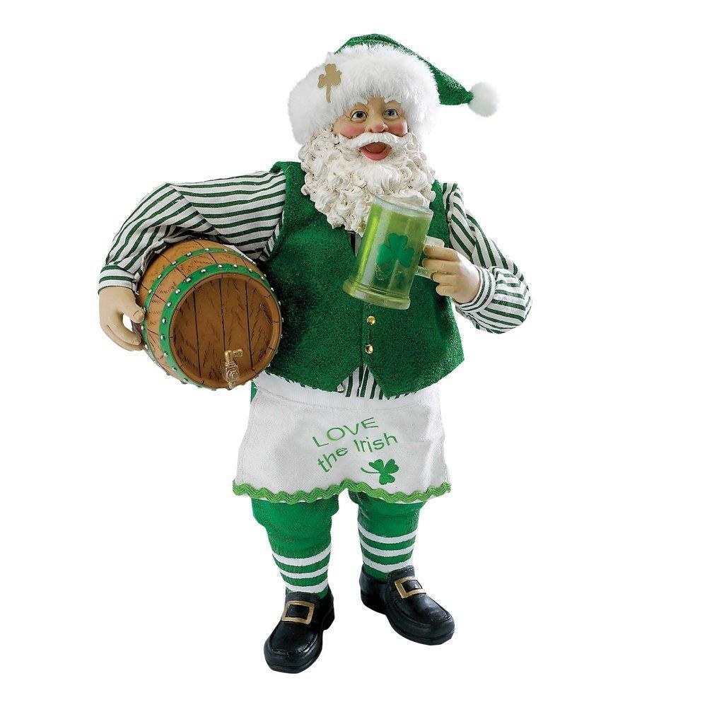 Irish Christmas - Musical Irish Santa with Beer Barrel at IrishShop ...