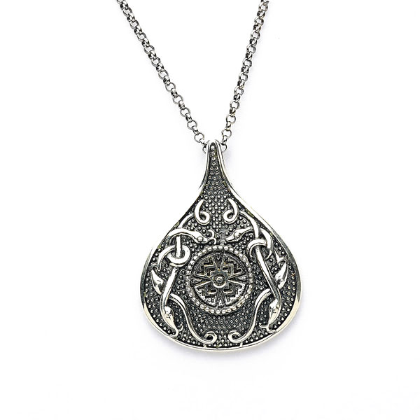 Celtic pendant antiqued sterling silver celtic cross teardrop celtic pendant antiqued sterling silver celtic cross teardrop irish necklace mozeypictures Gallery