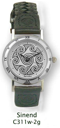 Celtic Watch - 'Sinend' Celtic Spirals Watch