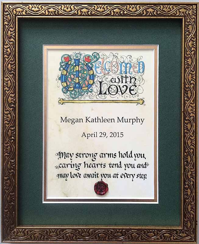 Personalized Irish Baby Blessing Framed Print at IrishShop ...  Irish Baby Blessing