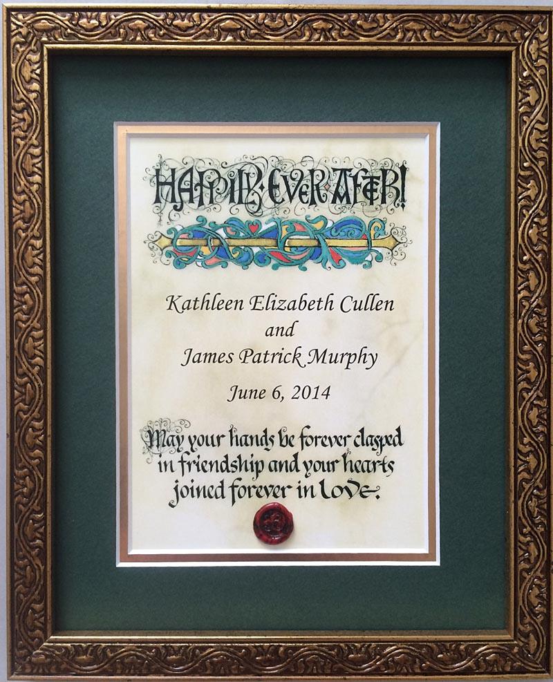 Personalized Irish Wedding Blessing Celtic Artwork Framed