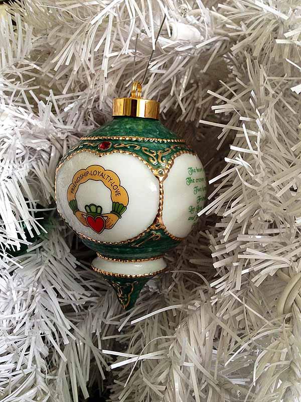 Irish Christmas.Irish Christmas Ornament Claddagh Ornament