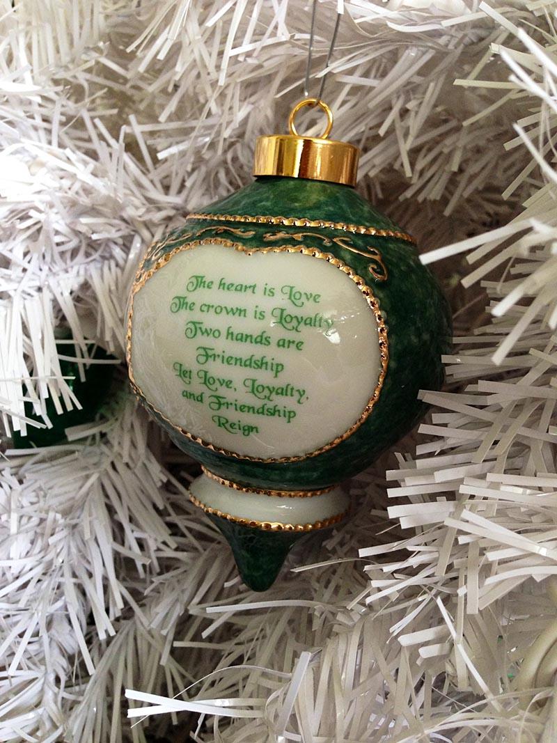 Irish Christmas Ornament Claddagh Ornament At Irishshop
