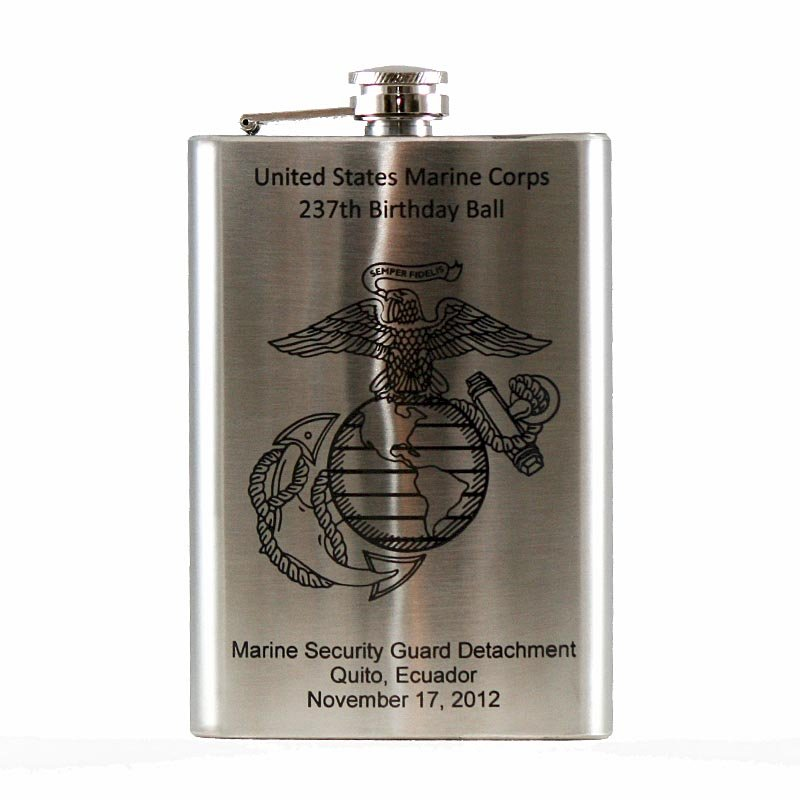 Personalized Premium Irish Hip Flask 8oz Stainless Steel