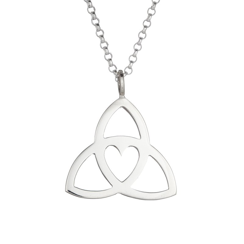 Celtic Necklace - Sterling Silver Celtic Heart Pendant
