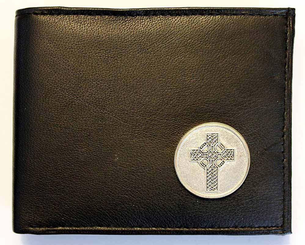 Irish Wallet - Leather Celtic Knotwork Cross Wallet