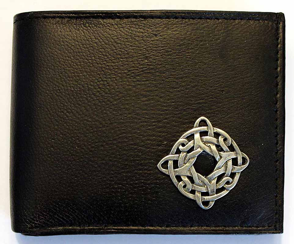 Irish Wallet - Celtic Knot Leather Wallet