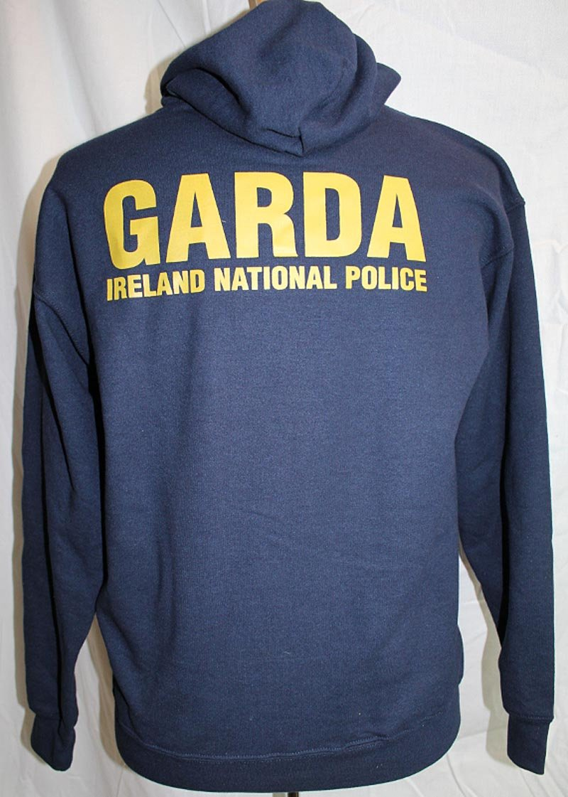 Irish Sweatshirt - Garda Irish Police Zip Hooded Sweatshirt