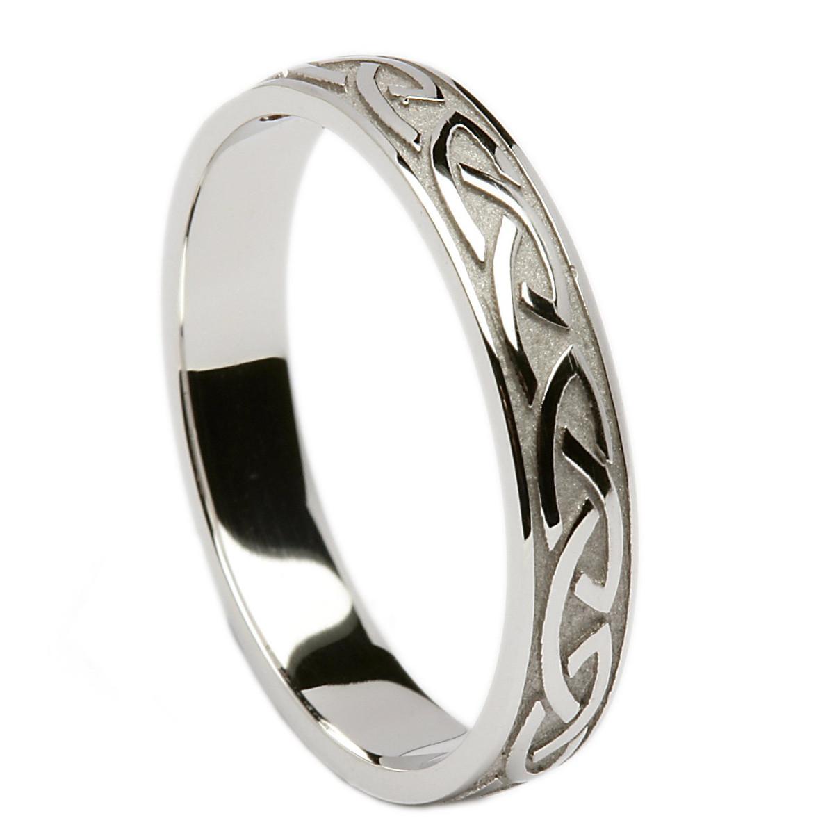Irish wedding ring celtic knotwork mens wedding band at for Mens irish wedding rings